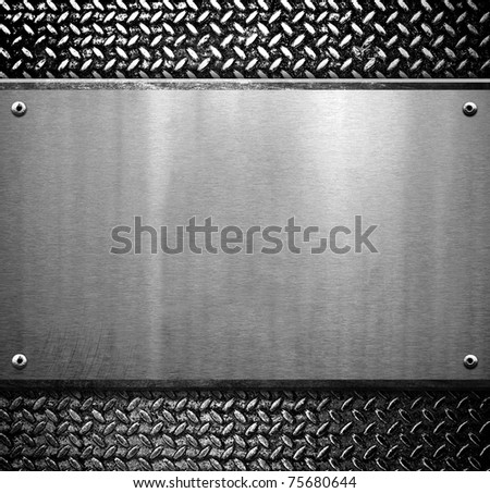 iron template - stock photo