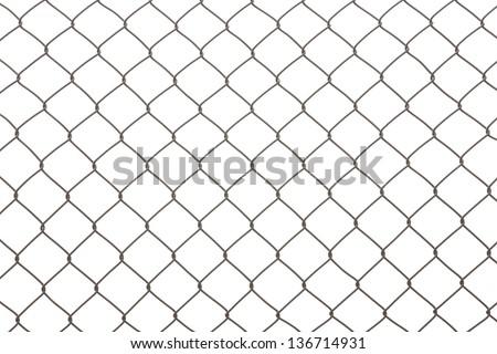 iron wire fence - stock photo