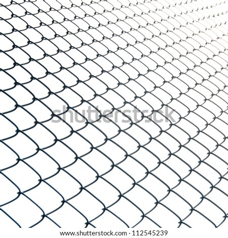 iron wire fence isolated abstract