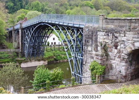 Ironbridge over the River Severn in Shropshire, England