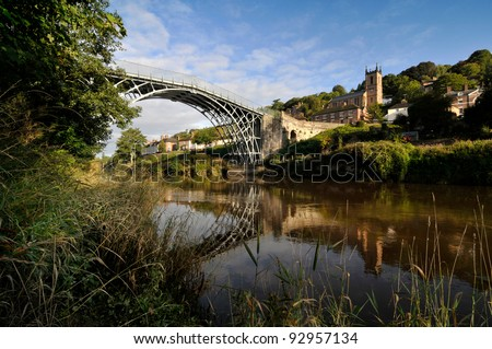 Ironbridge Shropshire – First Cast Iron Bridge - stock photo