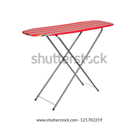 ironing board on a white background - stock photo