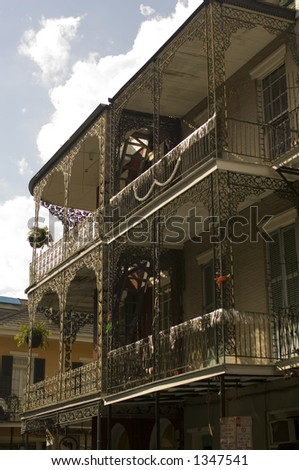Ironwork balconies - New Orleans, LA