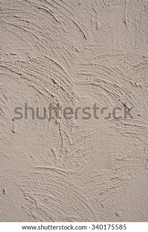 Irregular plastered concrete painted in grey, Concrete wall decoration style - stock photo