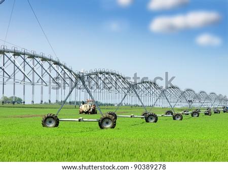 irrigation equipment - stock photo