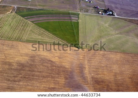 Irrigation farming in Western Montana USA - stock photo