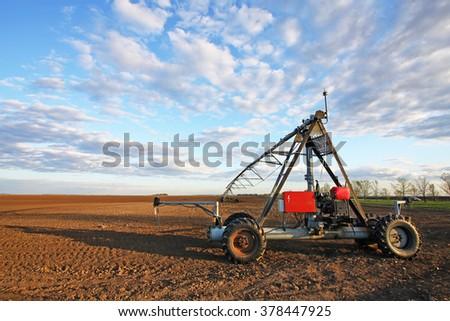 Irrigation pivot - stock photo
