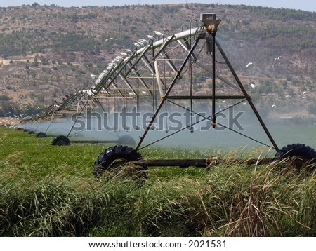 irrigation system - stock photo