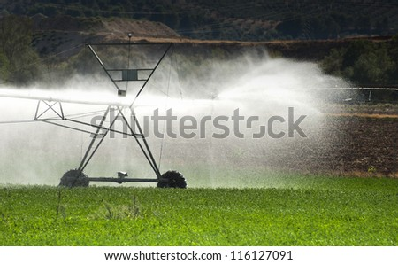 Irrigation Systems in Agriculture - stock photo