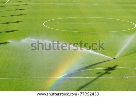 irrigation turf - stock photo