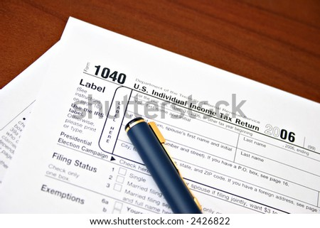 IRS Tax forms 1040