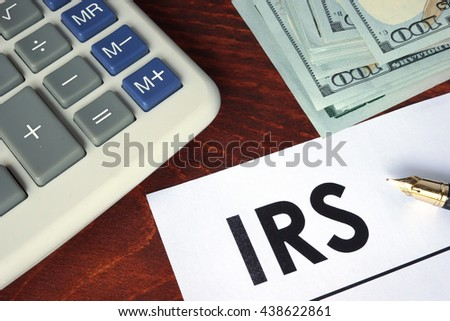 IRS written on a paper.