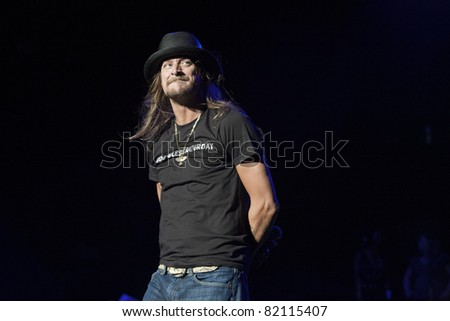 IRVINE, CA - JULY 30: Kid Rock performs at Verizon Wireless Amphitheater on July 30, 2011 in Irvine, California. - stock photo