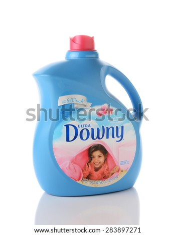 IRVINE, CA - JUNE 2, 2015: A bottle of Ultra Downy Fabric Softener with Silk Touch. Produced by Procter & Gamble it was test market in August 1960 and went nationwide in December 1961.