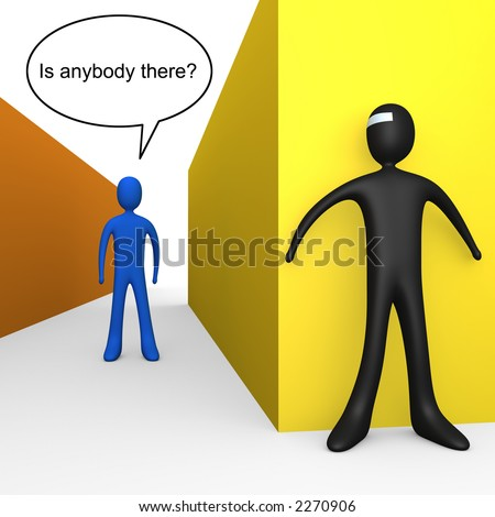 Is Anybody There? - stock photo