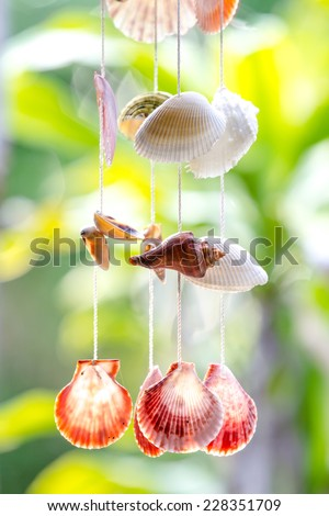 is hanging in the window. - stock photo