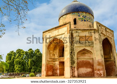 Isa Khan Tomb in New Delhi, India - stock photo