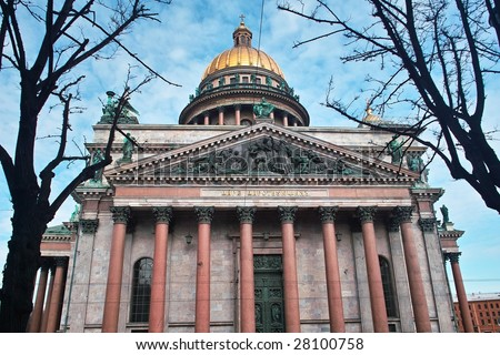 Isaac Cathedral in Saint Petersburg, Russia - stock photo
