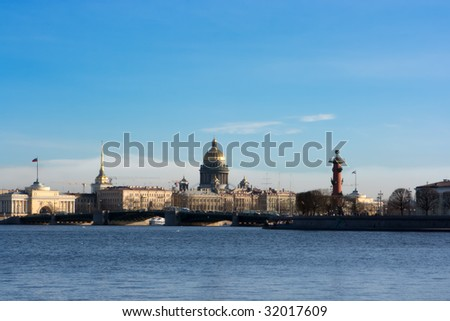 Isaac Cathedral in Saint Petesburg - stock photo