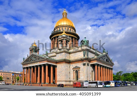 Isaakievsky Cathedral in St. Petersburg