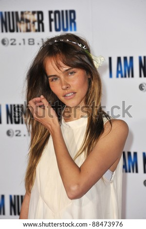 "Isabel Lucas at the world premiere of ""I Am Number Four"" at the Mann Village Theatre, Westwood. February 9, 2011  Los Angeles, CA Picture: Paul Smith / Featureflash"