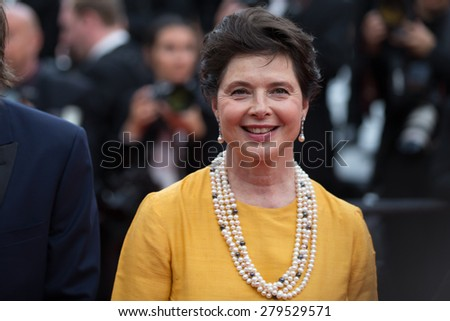 Isabella Rossellini and guests attend the 'Sicario' Premiere during the 68th annual Cannes Film Festival on May 19, 2015 in Cannes, France. - stock photo