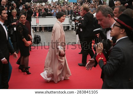 Isabella Rossellini attend Premiere of 'Mad Max: Fury Road' during the 68th annual Cannes Film Festival on May 14, 2015 in Cannes, France. - stock photo