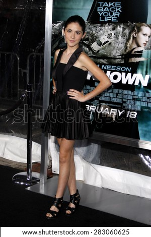 Isabelle Fuhrman at the Los Angeles premiere of 'Unknown' held at the Mann Village Theatre in Westwood on February 16, 2011.