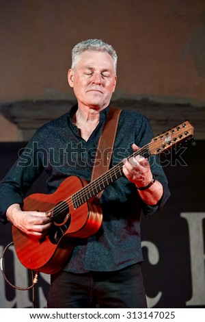 "ISEO, ITALY - AUGUST 28:  Australian guitar player Michael Fix at the event ""Acoustic Franciacorta 2015"" on August 28,2 015 in Iseo, Italy"