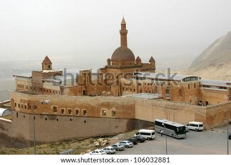 Ishak Pasha Palace, World Heritage Center - stock photo