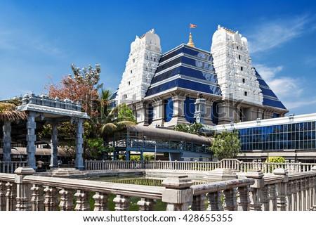 ISKCON (International Society for Krishna Consciousness) Temple in Bangalore - stock photo