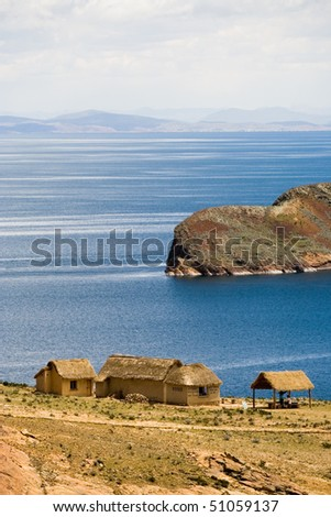 Isla del Sol, Titicaca, Bolivia - stock photo