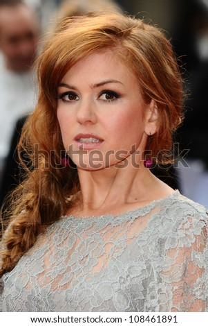 "Isla Fisher cast arriving for the premiere of ""The Dictator"" at the Royal Festival Hall, South Bank , London. 10/05/2012 Picture by: Steve Vas / Featureflash"