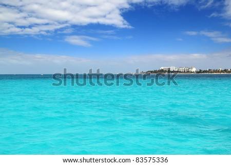 Isla Mujeres North beach near Cancun in Mexico Caribbean Mayan Riviera - stock photo