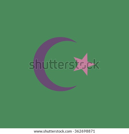 Islam Symbol Simple Flat Color Icon Stock Illustration 362698871