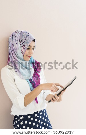 islam woman - stock photo