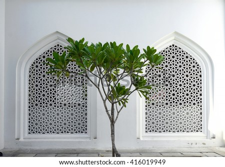 Islamic background - stock photo