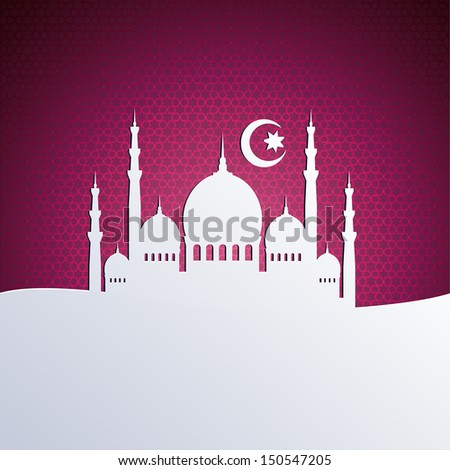 islamic backgrounds - RASTER version - stock photo