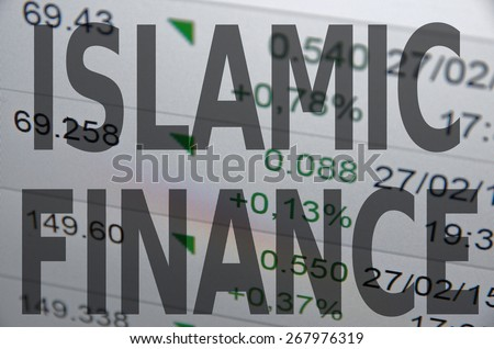 Islamic finance concept. - stock photo
