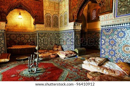 Islamic Interior Architectural Details Stock Photo