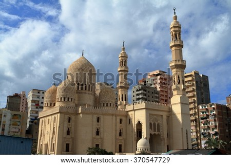 Islamic Mosque in Alexandria in Egypt
