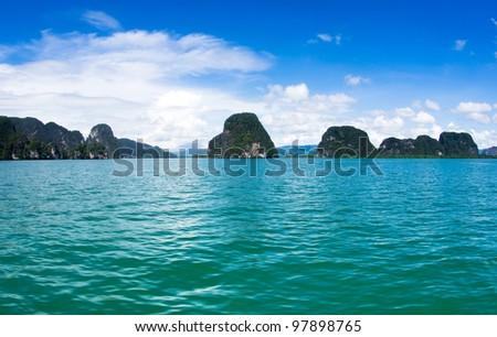 island and sea in Krabi Thsiland - stock photo