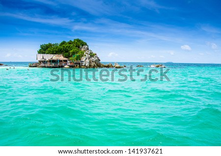 Island and sea in thailand