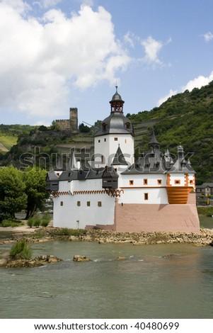Island-Castle - stock photo