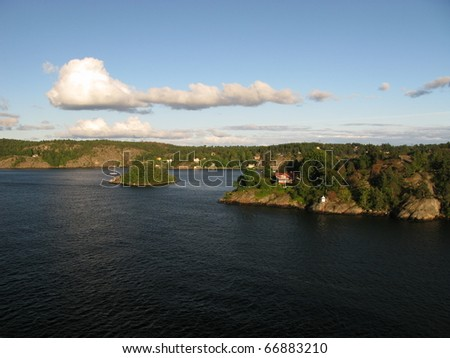 Island coast - stock photo