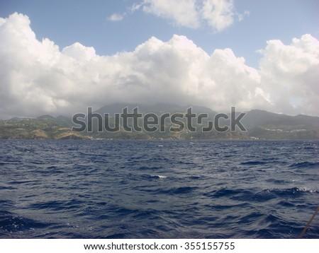 island Dominica - stock photo