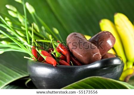 Island food - stock photo