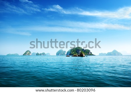 island in Andaman sea Thailand - stock photo