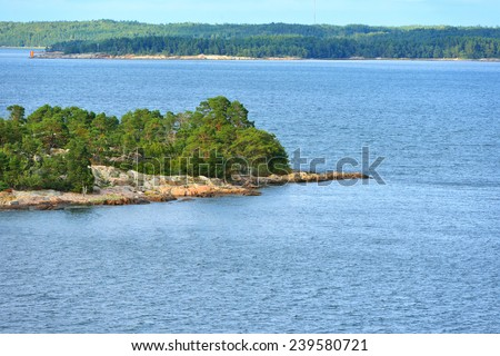Island in archipelago of Aland Islands, Finland - stock photo