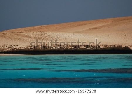 island in the red sea - stock photo